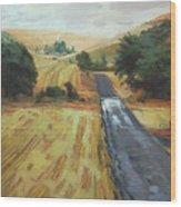 After The Harvest Rain Wood Print