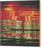 After The Rain Abstract 1 Wood Print