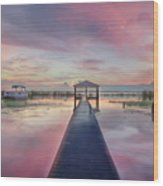 After The Rain Sunrise Painting Wood Print