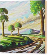After The Rains Wood Print
