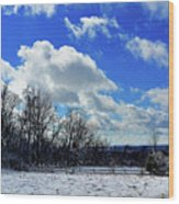 After The Snow Storm Wood Print