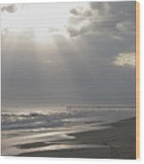 After The Storm - Frisco Pier - Outer Banks Nc Wood Print