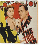 After The Thin Man, Myrna Loy, Asta Wood Print by Everett