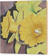 After The Tulips Wood Print