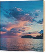 Afterglow On The Lakeshore Wood Print