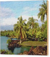 Afternoon At Mauna Lani Hawaii Wood Print