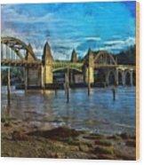 Afternoon At Siuslaw River Bridge Wood Print