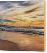 Afternoon At The Beach Wood Print