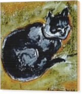 Afternoon Cat Wood Print