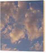 Afternoon Clouds Wood Print