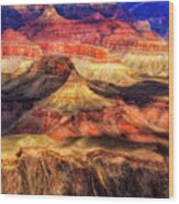 Afternoon Light At Mather Point, Grand Canyon Wood Print