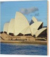 Afternoon Light On The Sydney Opera House Wood Print