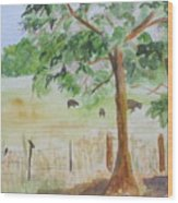 Afternoon On The Farm 2 Wood Print