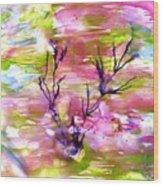 Afternoon Pond Wood Print