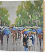 Afternoon Rain Wood Print