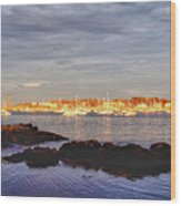 Afternoon Sun On Marblehead Neck Wood Print