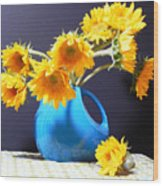 Afternoon Sunflowers Wood Print