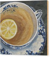 Afternoon Tea  Wood Print
