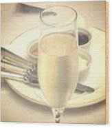 Afternoon Tea With Champagne Wood Print