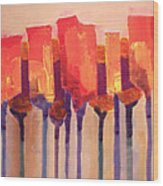 Afternoon Tulips Wood Print
