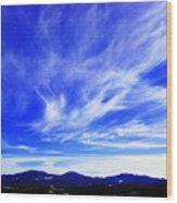 Afton Sky And Mountains I Wood Print