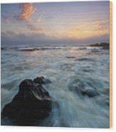 Against The Sea Wood Print