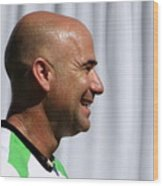 Agassi Smile Wood Print by Anne Babineau