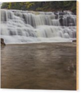Agate Falls Wood Print