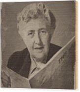 Agatha Christie 3 Wood Print
