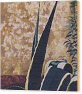 Agave I Wood Print