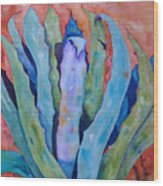 Agaves Up Wood Print