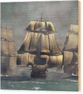 Age Of Sail Wood Print