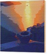 Agean Sunset Wood Print