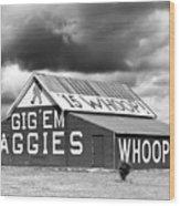 Aggie Barn #2 Wood Print