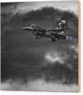 Aggressor #pacafdemo Viper Screaming Under Clouds Wood Print