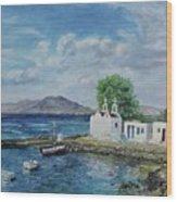 Agios Ioannis Beach, Mykonos Greece Wood Print