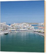 Agios Nikolaos Overview Wood Print
