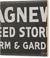 Agnew Seeds Roanoke Virginia Wood Print
