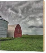 Agriculture Storage Bins Granaries Wood Print