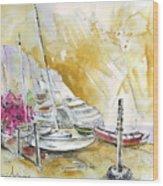 Agua Amarga 13 Wood Print