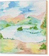 Aguarela3 Wood Print