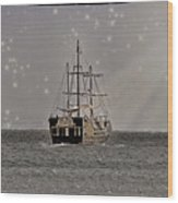 Ahoy Matey Wood Print