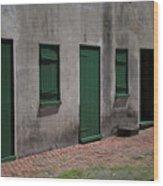 Aiken Doors Wood Print
