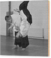Aikido Up And Down Wood Print