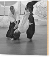 Aikido Wrist Lock  Wood Print