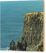 Aill Na Searrach Cliffs Of Moher Ireland Wood Print