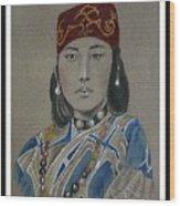 Ainu Woman -- Portrait Of Ethnic Asian Woman Wood Print