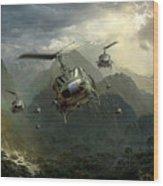Air Assault Wood Print