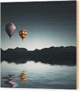 Air Balloons Wood Print