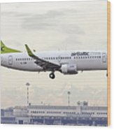 Air Baltic Boeing 737-300 Wood Print